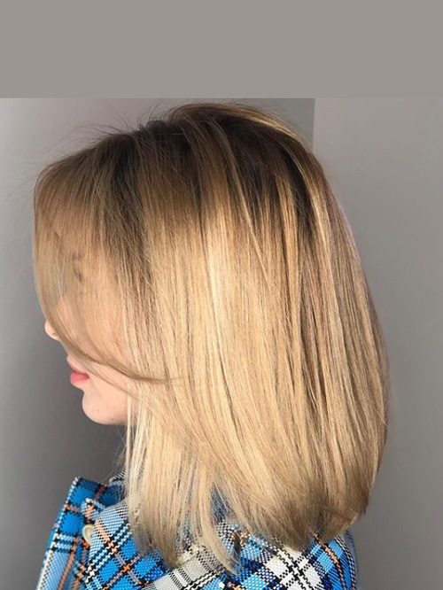 Стрижка средних волос в студии МАРУС